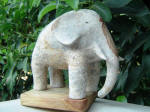 Elephant Fil 12 - A marble sculpture by Cliff Fraser