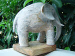 Elephant Fil 13 - A marble sculpture by Cliff Fraser