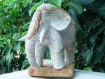 Elephant Fil 15 - A marble sculpture by Cliff Fraser