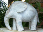 Elephant Fil 4 - A marble sculpture by Cliff Fraser