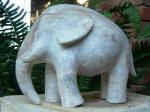 Elephant Fil 5 - A marble sculpture by Cliff Fraser