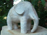 Elephant Fil 6 - A marble sculpture by Cliff Fraser