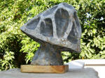 Fissured Mushroom 12 - A marble sculpture by Cliff Fraser