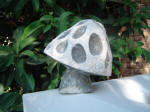 Fissured Mushroom 6 - A marble sculpture by Cliff Fraser