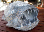 Deep Sea Fish Sculpture -  A marble sculpture by Cliff Fraser [In progress - Stage 6]