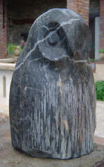 Black Owl - A marble sculpture by Cliff Fraser