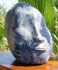 Burma Girl - A marble sculpture by Cliff Fraser
