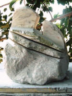 Love Snakes 2 - A marble sculpture by Cliff Fraser [Incomplete]