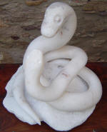 Love Snakes 7 - A marble sculpture by Cliff Fraser
